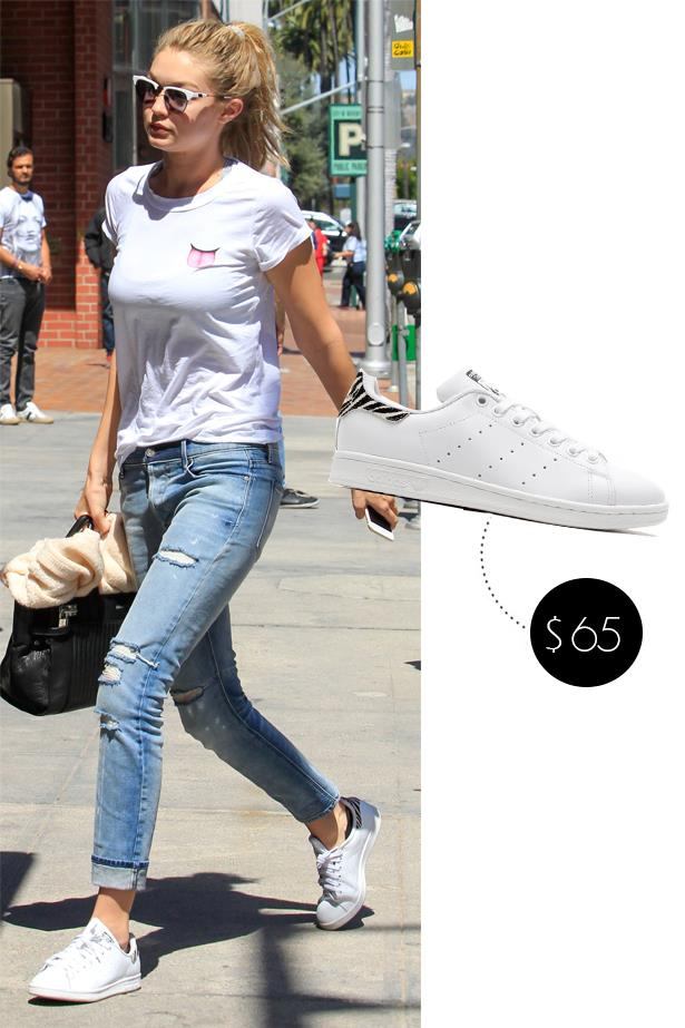 "<a href=""http://www.asos.com/au/Adidas/adidas-Originals-Stan-Smith-W-Animal-Print-Trainers/Prod/pgeproduct.aspx?iid=4904155""><strong>Adidas Originals Stan Smith With Animal Print</strong></a>, $92"