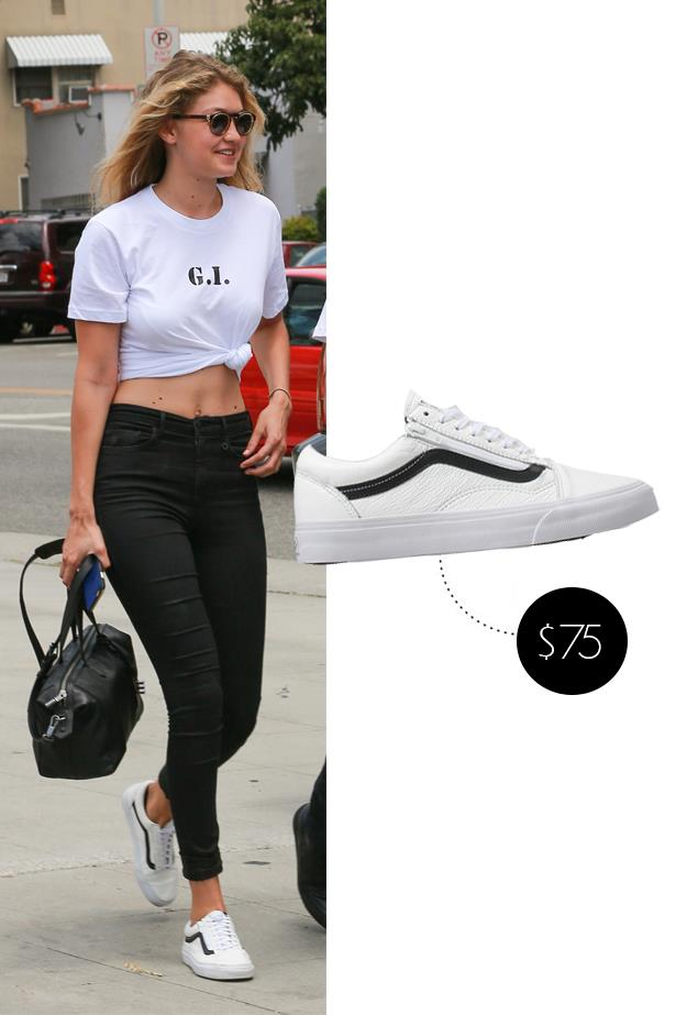 """<a href=""""http://www.asos.com/au/vans/vans-old-skool-black-white-zip-trainers/prod/pgeproduct.aspx?iid=5440882&clr=Blackwhite&SearchQuery=vans+old+skool&pgesize=13&pge=0&totalstyles=13&gridsize=3&gridrow=1&gridcolumn=3""""><strong>Vans Old Skool Black And White Zip Trainers</strong></a>, $134"""