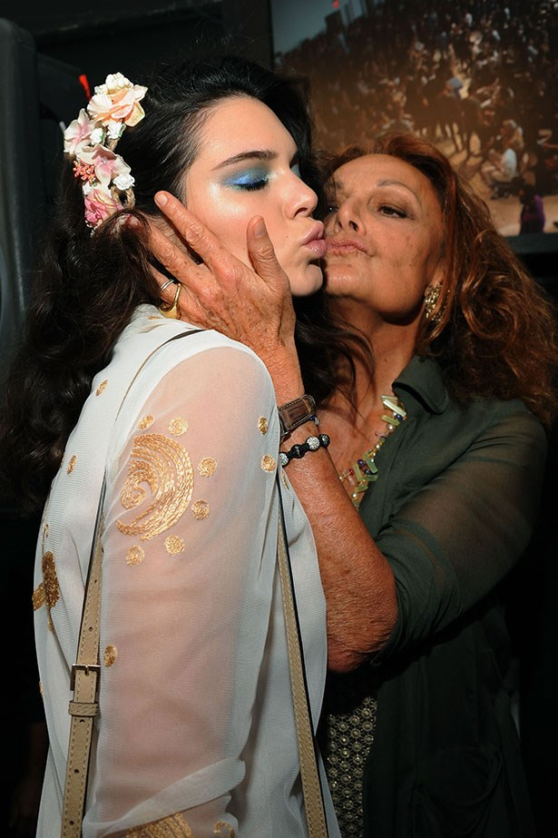 Amping up the fashion cred with a kiss from DVF. NBD.