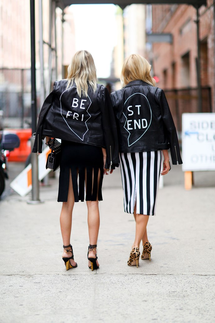Customize your leather jacket to give it an edge.