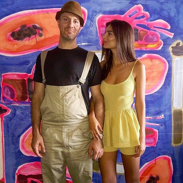Emily Ratajkowski with her boyfriend Jeff Magid.