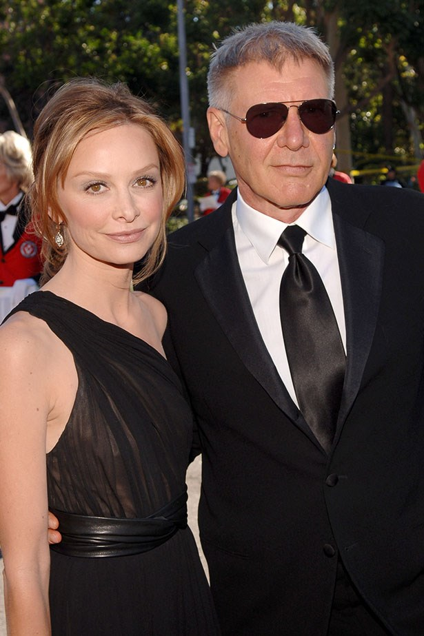 Calista Flockhart and her extremely handsome other half Harrison Ford attend the Emmys at an undisclosed date.
