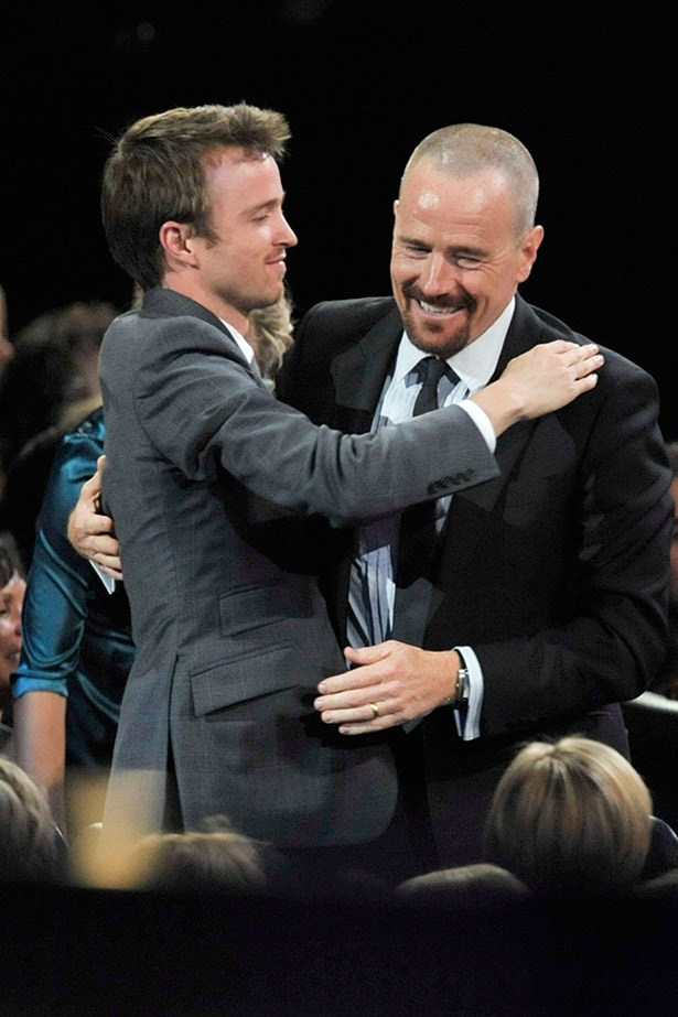 So much love between these Breaking Bad guys, bitch. Walt and Jesse forever.