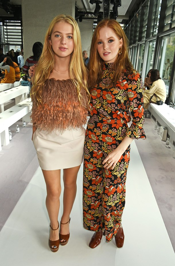 Noel Gallagher and Meg Matthew's daughter Anais Gallagher attended the show with good pal Ellie Bamber.