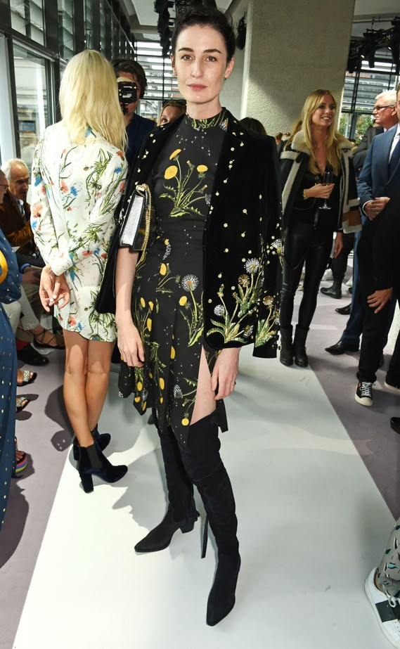 British modelling royalty, Erin O'Connor showed her face at the show.