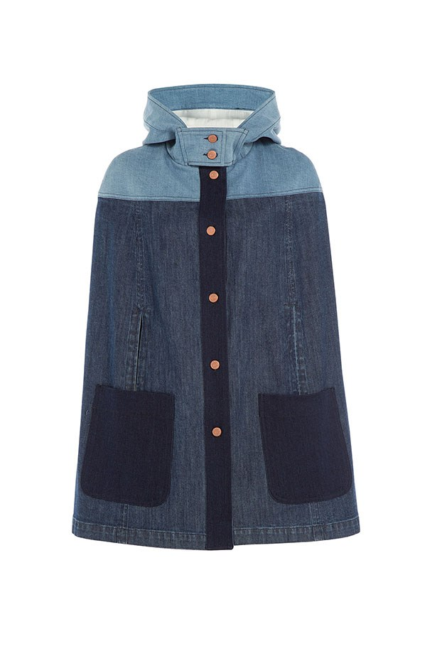 "<p>The Cape</p> <p><a href=""http://www.stylebop.com/au/product_details.php?menu1=clothing&menu2=6&id=645430 "">See By Chloe Denim Cape</a></p> <p>$440</p>"