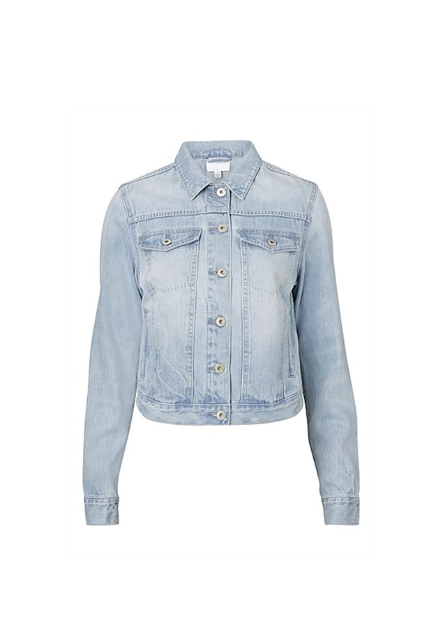 "<p>The Denim Jacket</p> <p><a href=""http://www.witchery.com.au/shop/woman/clothing/jackets-and-coats/60182493/Denim-Jacket.html"">Witchery Washed Denim Jacket</a></p> <p>$159.95</p>"
