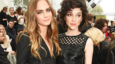 7 Times Cara Delevingne And St Vincent Were Adorable at Fashion Week