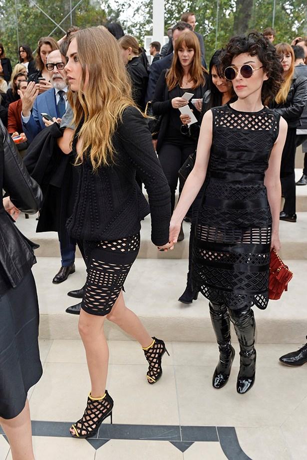 When they held hands.