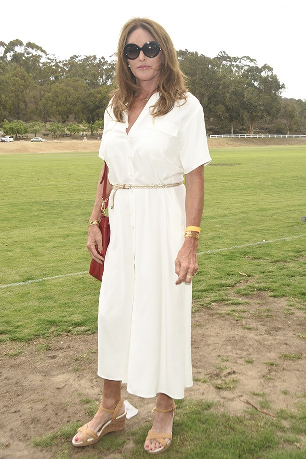 Caitlyn keeps it chic at a charity polo event.