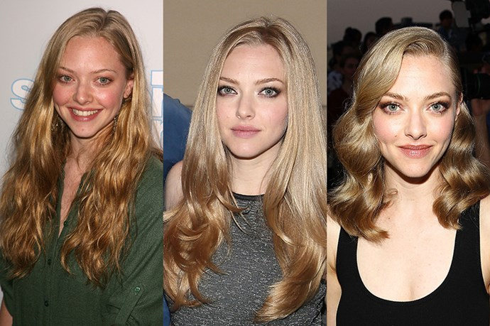 <strong>Amanda Seyfried</strong> <br> <br> Dancing Queen Amanda Seyfried has been nailing the hair game ever since she swooped onto our radar in 2004 with her straight-cut, bohemian locks. While her mermaid long blonde locks will always have a special place in our heart, especially her long, layered and ombre-d cut in 2013, Seyfried is definitely indisputably chic now that she's jumped on the Hollywood lob bandwagon.