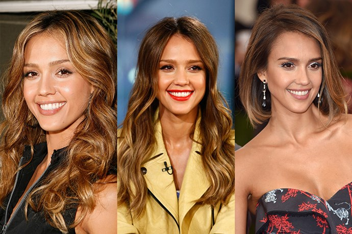 <strong>Jessica Alba</strong> <br> <br> Jessica Alba has always spurred an innumerable amount of hair envy regardless of the style, be it long, short, cropped or otherwise.  Perfecting the timeless layered and curled look with bright caramel highlights, Alba then moved onto loose and tousled waves which were on trend in 2013, before she championed a wave of ombred bobs. Our guess is that salons were inundated with requests.