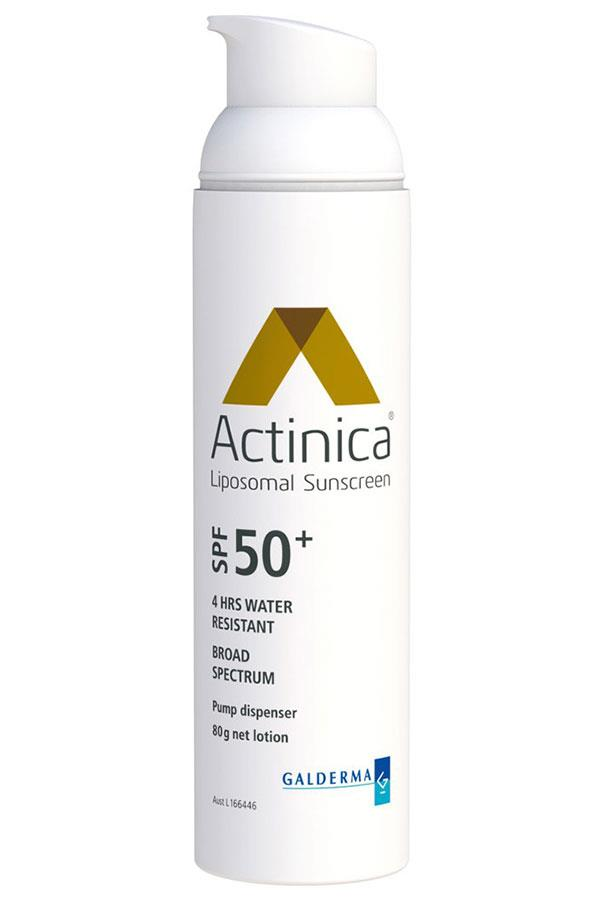 """<a href=""""http://dermabasket.com.au/actinica.html"""">Liposomal Lotion SPF50+, ACTINICA </a> <br> <br> A super high quality high shielding sunscreen that is loaded with skin-loving ingredients, this absorbs quickly and leaves skin feeling supple and ready for makeup."""