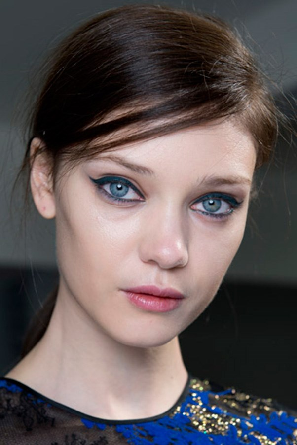"""<strong>NEW LINER</strong> <br><br> If a cat has nine lives, the cat-eye must have nine million. Liner looks this season ranged from the classic feline flick to soft and smudgy proving that winged liner doesn't need to be sharp to be sexy. <br><br> <strong>Seen at:</strong> Antonio Berardi (pictured), Versace, Calvin Klein Collection <br><br> <strong>Expert tip:</strong> """"[Gel] Eyeliners are great along the eyelash line, [but] if you're going to use it as a wing, use sticky tape as a guide for creating the shape,"""" <strong>Rae Morris, Priceline Pharmacy Makeup Director</strong>."""