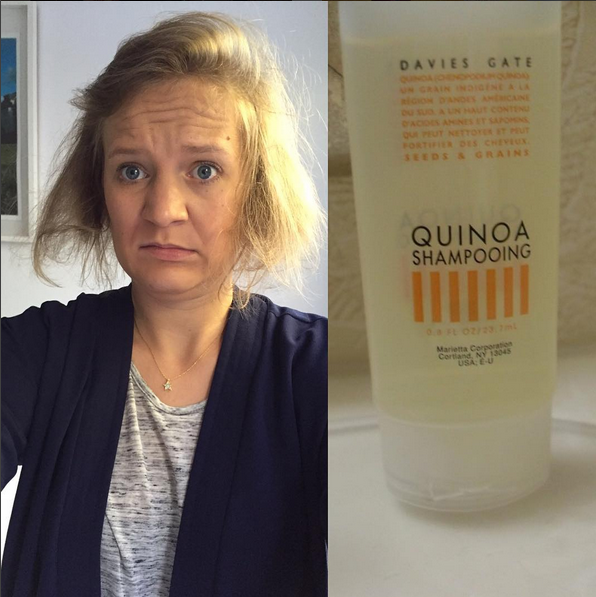 <>@deliciouslystella<p> <p>People are always asking me how I get my hair so wispy and thin. I guess some of its down to genetics (lucky me!) but it's also because of quinoa! My mantra used to be 'never trust a carb you can't pronounce' but since I've found this amazing quinoa shampoo my hairs been more like smoke than ever! Have a grainy day everyone! #eatclean #gettheglow #quinoa #beauty #selfie #natural #wellness #ineedahaircutthough #beautytipsbystella</p>