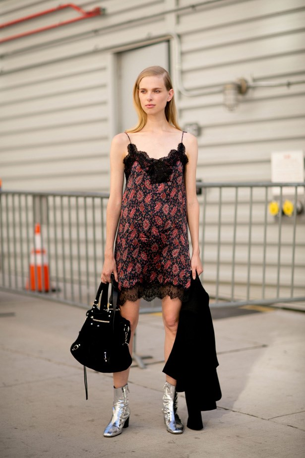Go grunge and experiment with a slip dress.