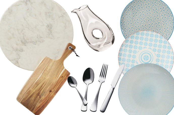 """5. When you're dishing out food, your picnic guests deserve the best. Dish them out your handmade (or deli-made) delicacies on some sweet servingware. <br> <br> <br> <br> <a href=""""http://www.matchbox.com.au/habitat101/serve-marble-12x12-inch-white-round """">Habitat101, Serve Marble 12x12 Inch White Round, $49.95 from Matchbox</a>, <a href=""""http://www.matchbox.com.au/habitat101/fusion-marine-small-plate-star-flower"""">Habitat101, Fusion Marine Small Plate Star Flower, $9.95 from Matchbox</a>, Habitat101, <a href=""""http://www.matchbox.com.au/habitat101/fusion-marine-small-plate-shabori"""">Fusion Marine Small Plate Shabori, $9.95 from Matchbox</a>, <a href=""""http://www.matchbox.com.au/habitat101/fusion-marine-small-plate-dash"""">Habitat101, Fusion Marine Small Plate Dash, $9.95 from Matchbox</a>, <a href=""""http://www.matchbox.com.au/maxwell-williams/madison-16pc-cutlery-set-gift-boxed"""">Maxwell & Williams, Madison 16pc Cutlery Set Gift Boxed, $59.95</a>, <a href=""""http://www.matchbox.com.au/coast-to-coast/acacia-paddle-serve-board-48x19x1-8cm """">Coast to Coast, Acacia Paddle Serve Board, $19.95 from Matchbox</a>, <a href=""""http://www.matchbox.com.au/krosno/vinoteca-jug-0-75l"""">Krosno, Vinoteca Jug, $49.95 fro Matchbox</a>."""