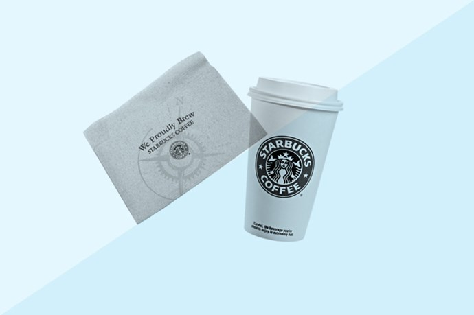 If you find yourself getting oily right before a meeting or a date and your mattifying gel/blotting papers/translucent powder is nowhere in sight, a Starbucks napkin is the perfect weight and texture for absorbing oil. Seriously. Just use them as you would a normal blotting sheet. Bonus: you can also grab yourself a drink while you're there.