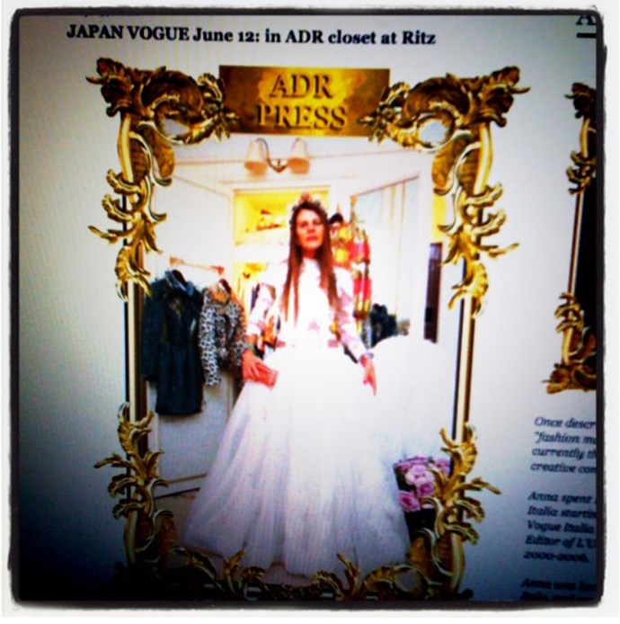 <em><strong>ANNA DELLO RUSSO</strong></em> <p> Fashion's most creative dresser has an Instagram to rival anyone's - but it wasn't always so. This lo-res, bordered pic was one of her very first.