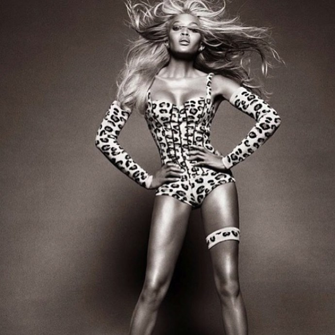 <em><strong>NAOMI CAMPBELL</strong></em> <p> Naomi Campbell's first Insta post was pretty much everything a supermodel's should be: showcasing her posing talent and amazing bod.