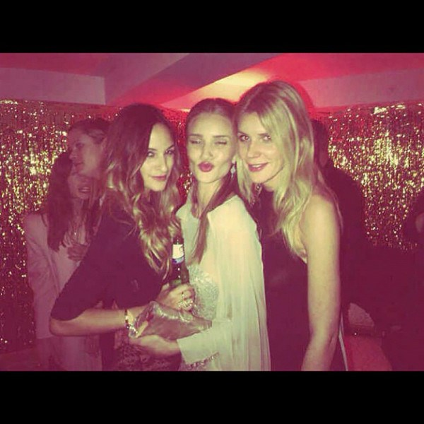 <em><strong>ROSIE HUNTINGTON-WHITELEY</strong></em> <p> With lips like those, why wouldn't you make your Insta-debut with a pouty party pic?