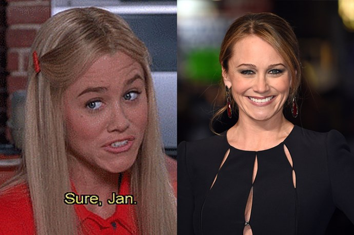 <em><strong>CHRISTINE TAYLOR</strong></em> <p> <p> From Christine Taylor came the raised eyebrows that spawned iconic moment, 'Sure Jan'. Christine, AKA Ben Stiller's wife, starred in the <em>Brady Bunch</em> movie back in the day.