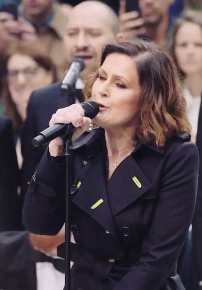 'Only You' performed by Alison Moyet at the Burberry show, with a full strings orchestra - another Christopher Bailey musical masterpiece. Image: Instagram