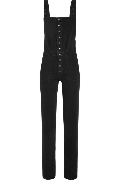 "MIH Jeans Clint Dungarees, US$385; <a href=""http://us.mih-jeans.com/all-in-one/clint-dungarees-black.html?ranMID=38095&ranEAID=TnL5HPStwNw&ranSiteID=TnL5HPStwNw-Ltwo76gLlXUllE2ZZDVynw&siteID=TnL5HPStwNw-Ltwo76gLlXUllE2ZZDVynw"">us.mih-jeans.com</a>"