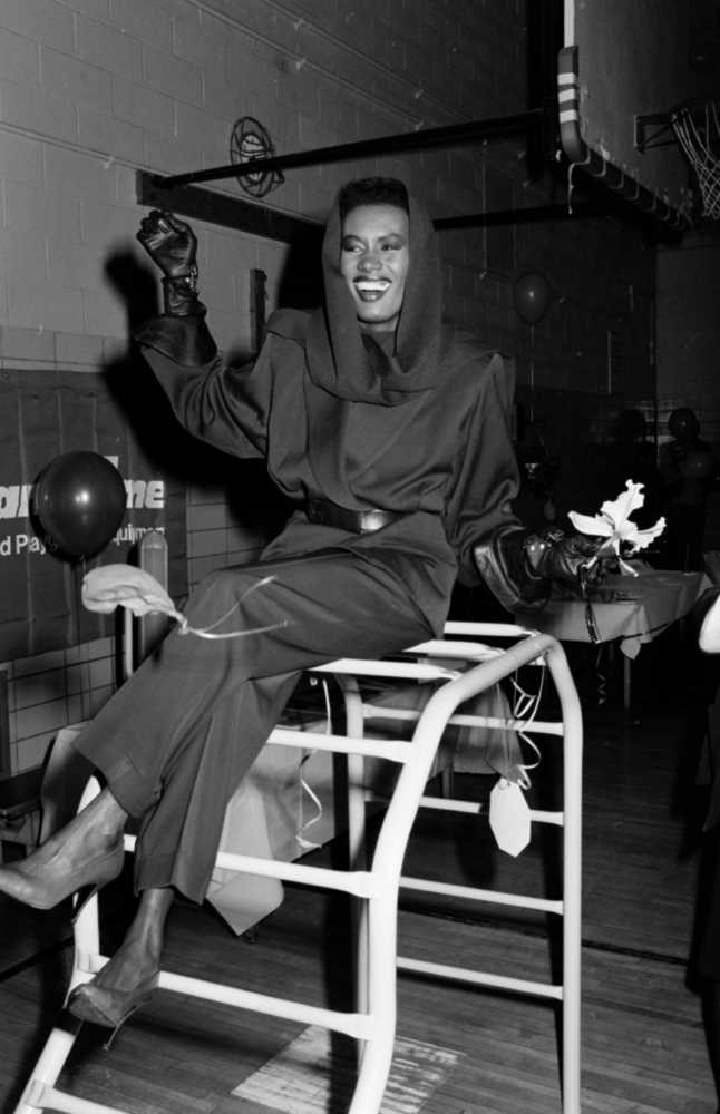 "<strong>Grace Jones</strong> <br> <br> ""For being so consistently fearless and ahead of her time."" <br> <br> Kenya Hunt - Acting Content Director"