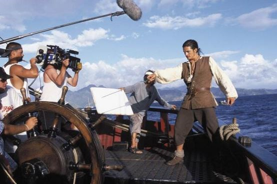 "<strong>Pirates of the Caribbean</strong> <br> <br> Orlando Bloom during a scene. <br> <br> Image: <a href=""https://twitter.com/MakingOfs/status/642880975010156544/photo/1"">Twitter</a>"