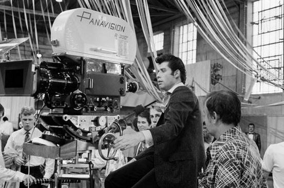 """<strong>Grease (1978)</strong> <br> <br> John Travolta looking through the lens. <br> <br> Image: <a href=""""https://twitter.com/MakingOfs/status/631916973962739713/photo/1"""">Twitter</a>"""