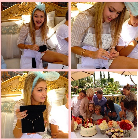 She's a proud big sister, sharing these shots of Gigi's 18th birthday party. Cute!