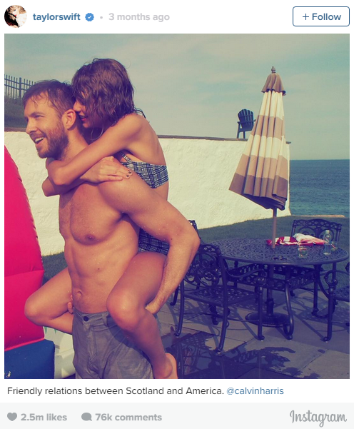 3. July 3, 2015: Taylor Swift confirmed her relationship with DJ Calvin, what we know now? The internet loves Swifty.