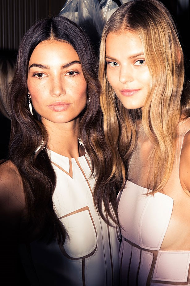 """<strong>Best Waves: Carolina Herrera</strong> <br> <br> <em>Pita </em>reinvented <a href=""""http://www.elle.com.au/beauty/trends/2015/7/rich-girl-hair/"""">AW16's rich-girl hair trend,</a> amping up the shine factor and showing us a new way to wave at <em>Carolina Herrera.</em> Prepping lengths with <em>TRESemme 7 Day Keratin Smooth Heat Activated Treatment</em>, he created the S-bend by holding his 1.5 inch tong horizontally. Rather than wrapping the hair around, <em>Pita </em>rolled the tong down the hair, smoothing the roots with the edge of the tong to tame frizz."""