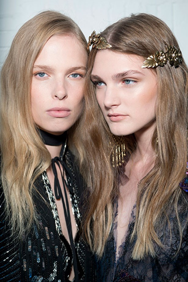 <strong>Best instant update: Rodarte</strong> <BR> <BR> The matte texture waves were adorned with stunning barrettes.