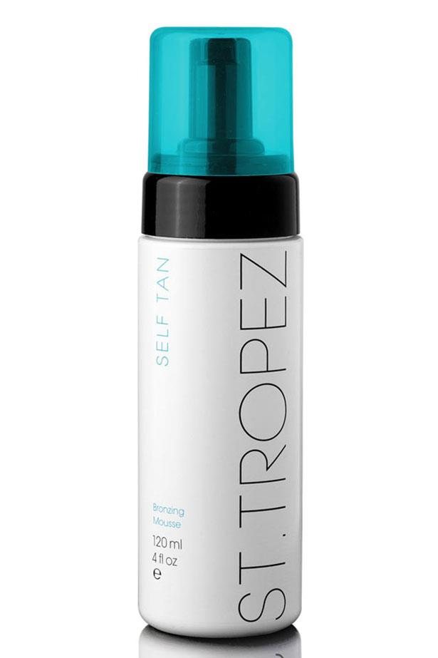 """<strong>Best all-rounder: </strong><a href=""""http://shop.sttropeztan.com.au/self-tan-bronzing-mousse-120ml/"""">St.Tropez Self Tan Bronzing Mousse</a>"""