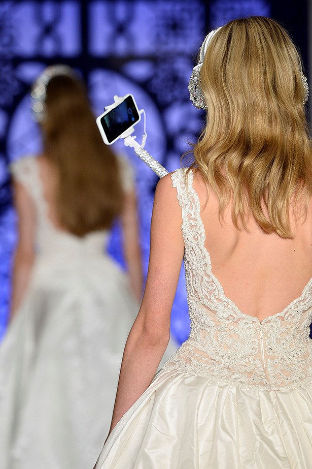 The next step for brides, the #welfie (yes that's wedding selfie, no you can't say without being embarrassed)