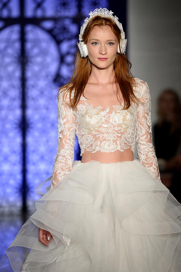 Layers of tulle. More skin action.