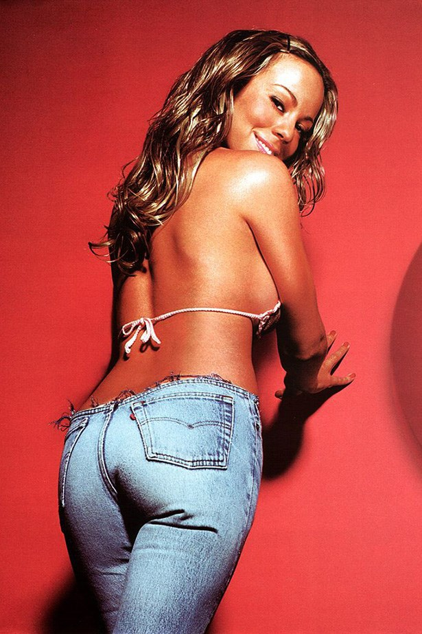 You cut off the waistbands of your jeans. Which probably nobody except Mariah Carey should do. Image via Reddit.com