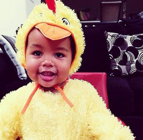 <strong>AMBER ROSE'S SON, SEBASTIAN</strong> <br> As a chicken.