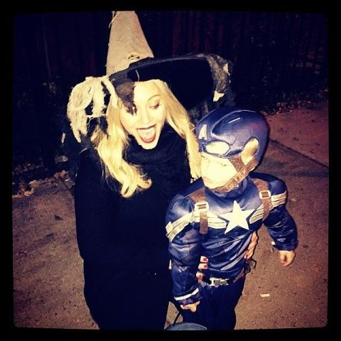 <strong>HILARY DUFF'S SON, LUCA</strong> <br> As Captain America.