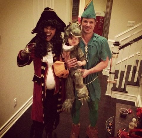 <strong>NICK AND VANESSA LACHEY'S SON, CAMDEN</strong> <br> As the crocodile from 'Peter Pan.'