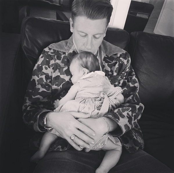 Macklemore (Ben Haggerty) and Tricia Davis had their first child together in May, daughter Sloane Ava Simone. <br> <br> Macklemore and Davis got married a month later in June once same sex marriage was made legal.