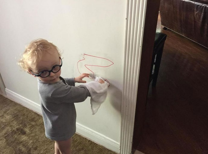 """Anna tweeted: """"Love saving $ on things like house painters- Jack has it taken care of- should I be worried about US child labor laws?"""" <br> <br> Image: <a href=""""https://twitter.com/AnnaKFaris/status/643969916647833600/photo/1"""">Twitter</a>"""