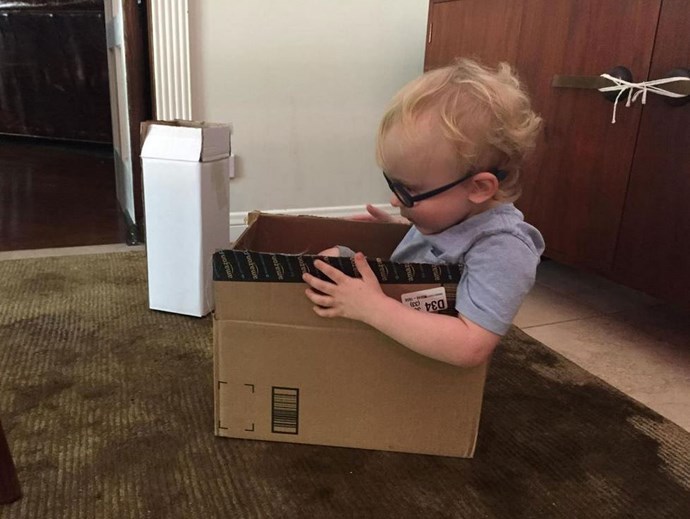 """Anna tweeted: """"The numbers aren't in yet- but we're expecting Jack's IQ to be 140+ considering the space boat he built"""" <br> <br> Image: <a href=""""https://twitter.com/AnnaKFaris/status/630411707744018432/photo/1"""">Twitter</a>"""