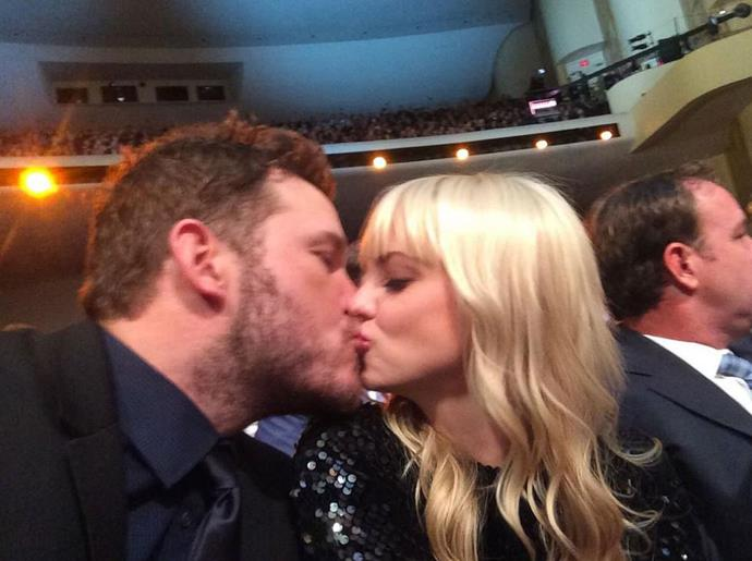 "Chris tweeted: ""Having a blast at the @NFLhonors So grateful to be here. Go @Seahawks #12s"" <br> <br> Image: <a href=""https://twitter.com/prattprattpratt/status/561727204401221633/photo/1"">Twitter</a>"