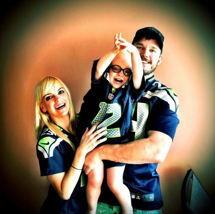 "Chris tweeted: ""#HappyThanksgiving #12thMan"" <br> <br> Image: <a href=""https://twitter.com/prattprattpratt/status/538149110616817664/photo/1"">Twitter</a>"