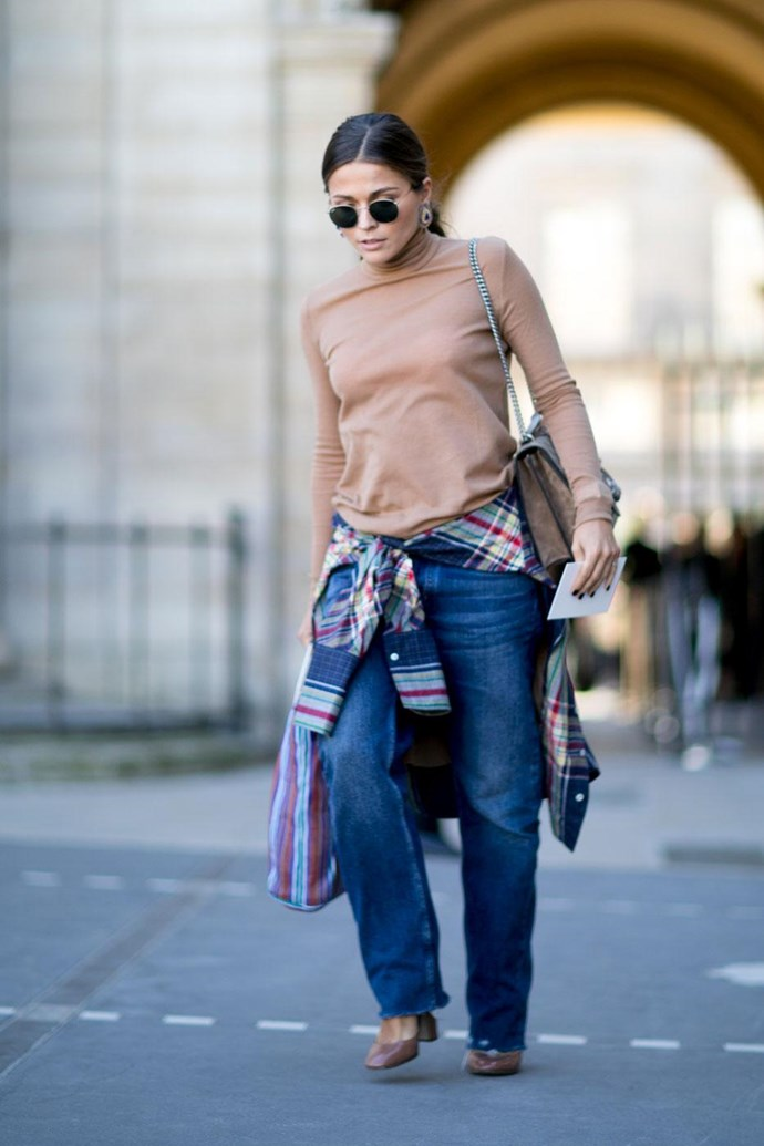 A plaid shirt tied around the waist is so much cooler than a belt.