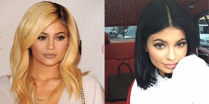 """<p> <strong><p>Kylie Jenner<strong></p> <p>Kylie Jenner has left the wigs, extensions and green hair alone for now, unveiling a chic new bob on the weekend.<br> Jenner showed off her look with a cute video on Instagram, thanking her hairstylist for her """"dope blunt haircut."""" </p>"""