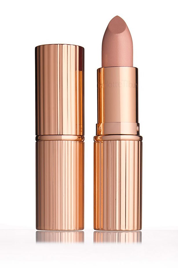 """<strong>Medium Skin Tones</strong> <BR> <BR> Punch up the pigment with a denser beige. <a href=""""http://www.charlottetilbury.com/au/k-i-s-s-i-n-g-nude-kate.html""""><em>Charlotte Tilbury K.I.S.S.I.N.G Lipstick in Nude Kate</em></a> is the ultimate all-rounder."""